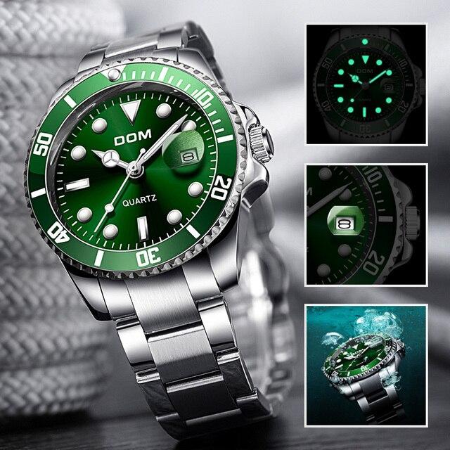 2019 แบรนด์DOM Luxuryนาฬิกาผู้ชาย 30Mนาฬิกากันน้ำกีฬานาฬิกาผู้ชายนาฬิกาข้อมือควอตซ์นาฬิกาrelogio Masculino