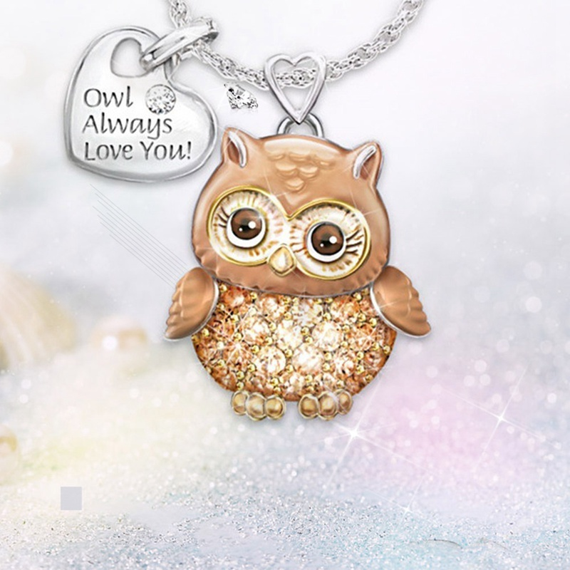 Owl always love you necklace 3