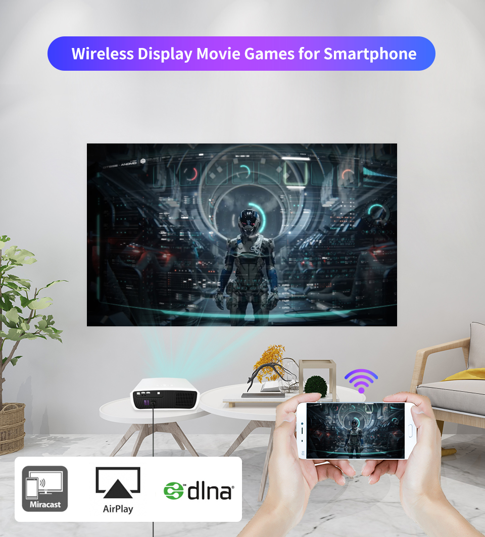 Wzatco c3 novo projetor led android 10.0 wi fi completo hd 1080p 300 polegada grande tela proyector 3d cinema em casa inteligente vídeo beamer-4