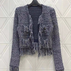Women Tweed Jacket C...
