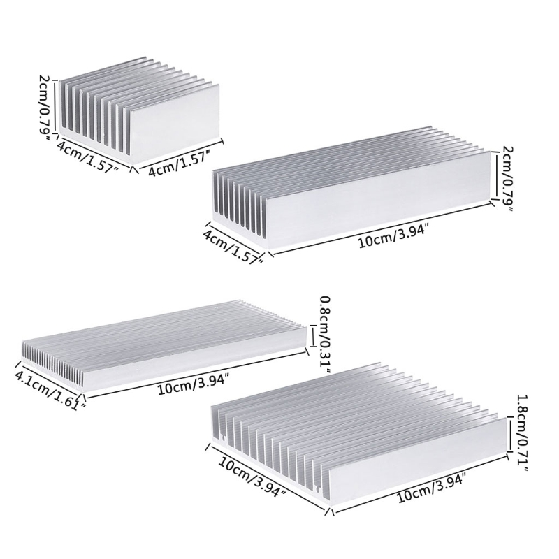 Extruded Aluminum Heatsink For High Power LED IC Chip Cooler Radiator Heat Sink Y51A