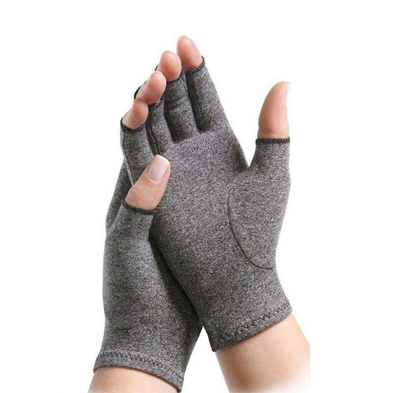 1Pair Anti Arthritis Health Therapeutic Heat &Compression Therapy Gloves Rheumatoid Hand Pain Wrist Support Sports Safety Gloves