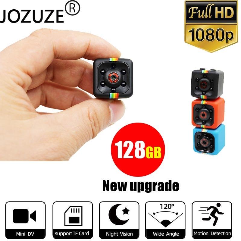 Мини-камера Sq11, Спортивная цифровая камера с датчиком ночного видения, видеокамера с датчиком движения, видеорегистратор с микро-камерой, у...
