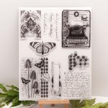 Прозрачные штампы бабочка новинка 2020 резиновое Силиконовое