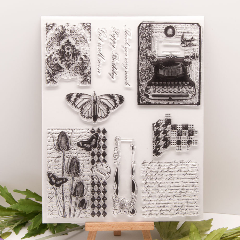 Transparent  Stamps butterfly New 2020 Rubber Silicone Seal for DIY Scrapbooking Card Making Album Decoroation Crafts