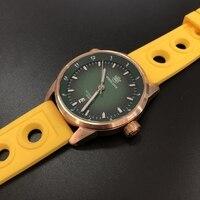 SD1949S Steeldive Marke grünes Zifferblatt 20ATM wasserdicht Saphirglas Männer Bronze Uhr-in Sportuhren aus Uhren bei