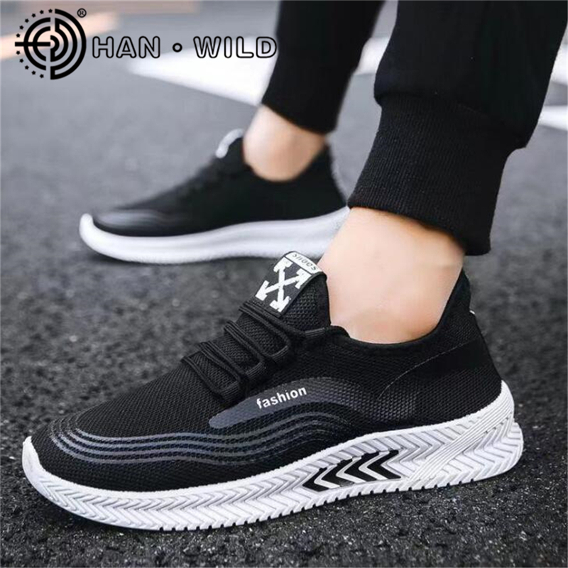 Breathable Men Casual Shoes No-slip Male Vulcanize Shoes Sneakers Lightweight Lace Up Men Shoes Air Mesh Tenis Masculino
