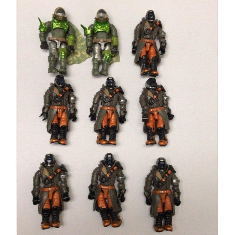 LOT OF 9 Destiny Figures  2 Green Huner & 7 Black Hunter  Action Figure