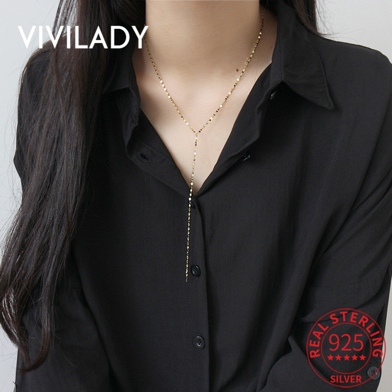 Fashion Women 925 Sterling Silver Sweater Chain Pendant  Long  Necklace Jewelry