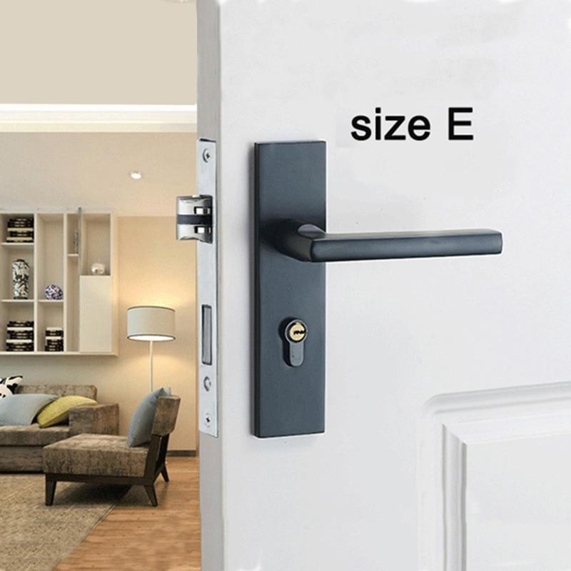 Bedroom Door Lock with door handle Black door lock Continental Wooden interior Door Handles Lock for home