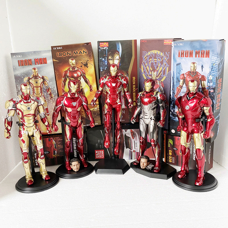 Crazy Toys Action Figure Iron Man Action Figures MK50 Tony Stark Mark50 Iron Man Mk47 MK42 Toy Gift For Christmas