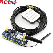 SIM868 GSM GPRS GNSS Bluetooth 3,0 шапка для Raspberry Pi 2B/3B/Zero W Поддержка SMS Телефонный звонок CP2102 UART WS0005