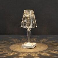 3W USB Acryl Kristall Tisch Licht Transparent Prisma Schreibtisch Lampen Für Home Schlafzimmer Nacht Dekoration Beleuchtung mit Taste Schalter