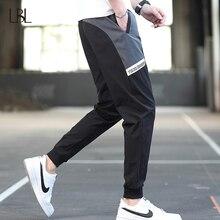 Pants Male Joggers Trousers Slim-Fit Streetwear Hip-Hop Black Men's Fashion Casual Bodybuilding