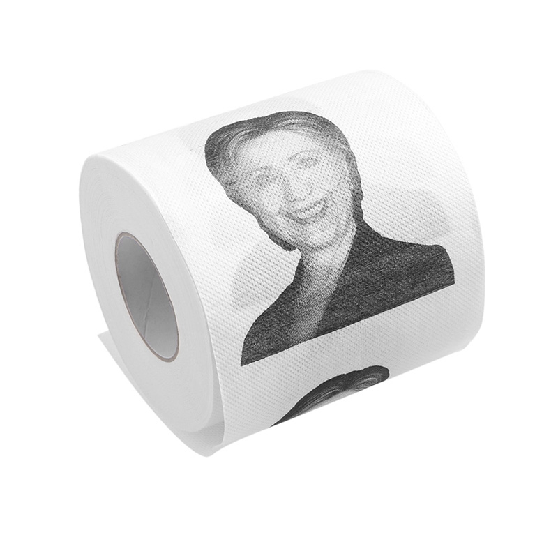 Hillary Clinton Donald Trump Dollar Humour Toilet Paper Gift Dump Funny Gag Roll