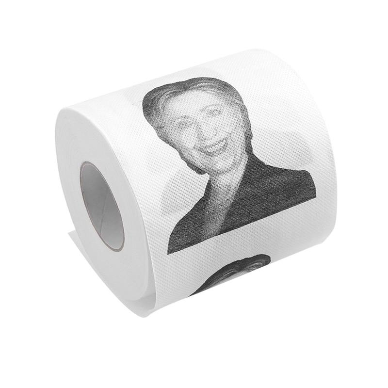Hillary Clinton Donald Trump Dollar Humour Toilet Paper Gift Dump Funny Gag Roll