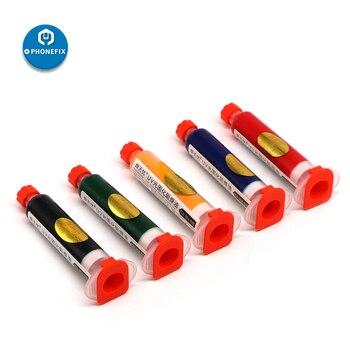 10CC Solder Paste Flux UV Solder Resist Mask Blue Black Red Yellow Green Oil Welding Flux for PCB BGA Circuit Board Protection