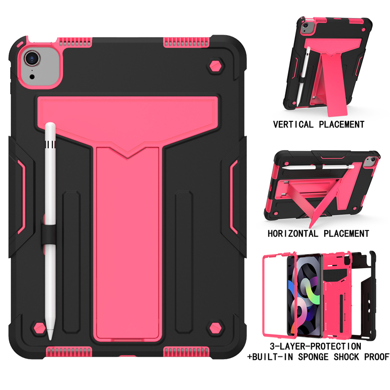 Black RoseRed Purple Shock Proof Case For iPad pro 11 2020 A2228 A2231 A2068 A2230 11 inch Heavy Duty
