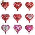 10 шт 18 дюймов День матери любовь сердце форма Мама шары испанский Счастливый День матери Алюминиевая Фольга Воздушный шар мать фестиваль ...