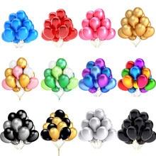 10/20/30 sztuk 10/12 cal błyszczące perłowe balony lateksowe ślub dekoracja urodzinowa nadmuchiwane kolorowe Ballon dzieci zabawki Globos