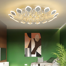 купить Creative petal crystal LED ceiling chandelier For dining room living room bedroom modern led Chandelier Lighting acrylic lustres по цене 7718.05 рублей