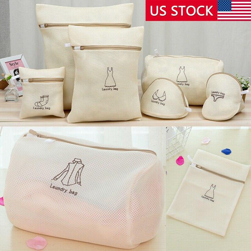 Fashion 1*Mesh Laundry Bags For Washing Machine/Bra Underwear Underpants Zip Laundry Bag