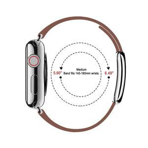 Image 5 - Lederen Band Voor Apple Horloge Band 4 5 44Mm 40Mm Moderne Gesp Bands Voor Iwatch Serie 3 2 1 Band 42Mm 38Mm