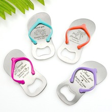 【KATEROSE】Customizable Colorful Thong Flip Flop Bottle Opener in Yarn Bag Personalized Wedding Favors DIY Sandals Opener X 40pcs