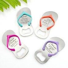 【Katerose】customizable Kleurrijke Thong Flip Flop Flesopener In Garen Zak Gepersonaliseerde Bruiloft Gunsten Diy Sandalen Opener X 40 Pcs