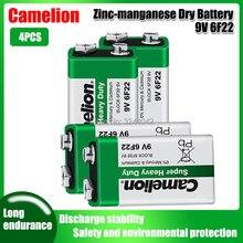 Bateria 6f22 ppp3 6lr61, 4 unidades, camelion 9v 6lr61, bateria de lítio 6f22 ppp3 6lr61, super resistente, baterias secas para brinquedo alarme de rádio