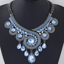 Special price European and American metal exaggerated sparkling water drop temperament Necklace