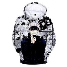 New Anime Hoodies Jujutsu Kaisen 3D Print Sweatshirt Men Women Fashion Oversized Hoodie Harajuku Hip Hop Pullover Coats Clothing