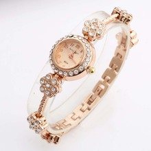 Women Bracelet Watches Luxury Crystal Rose Gold Quartz Wristwatches Brand Womens King Gilr Watch