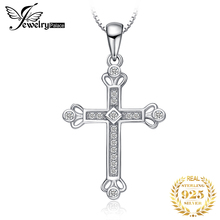 JPalace Crown Cross Silver Pendant Necklace 925 Sterling Silver Choker Statement Necklace Women Silver 925 Jewelry WithoutChain