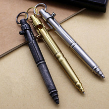 Tactical Pen Vintage Design Multi-functional Ball Point Pen Emergency Self Defense Supplies Brass&Stainless Steel EDC Tool Gift