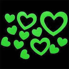 NEW Heart Shape Glowing In The Dark Luminous Fluorescent 3D Wall Stickers Wholesale