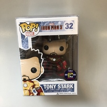 2013 SDCC Exclusive Official Funko pop Rare Marvel: Iron Man 3 - Tony Stark Vinyl Action Figure Collectible Model Toy In Box 2017 exclusive glow in the dark funko pop original star wars qui gon jinn holographic vinyl figure collectible model toy