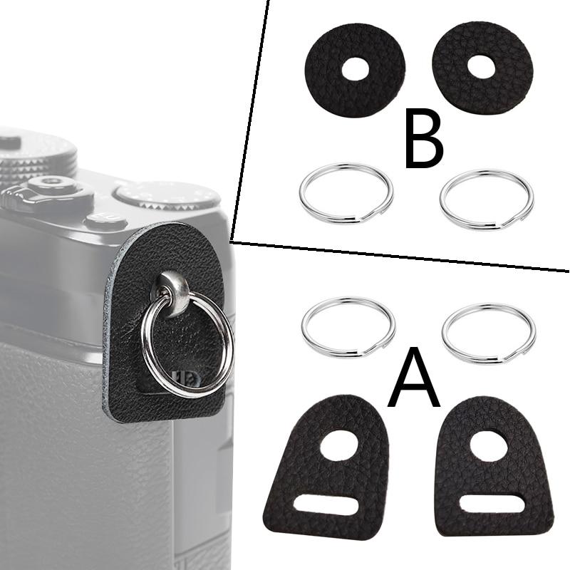 Новинка, кожаный защитный чехол для камеры, ремень с кольцом-крючком для Fujifilm, Canon, Nikon, Sony, Olympus, Pentax, DSLR-камеры, 1 пара
