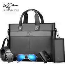 Briefcase Classic Design 5pcs Handbag For Man Business Computer Bag Men's Office Bags Travel Work Laptop Shoulder Bag 2020 New