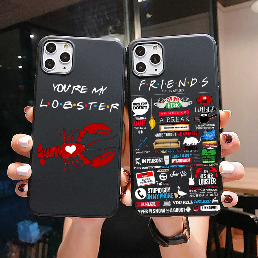 Teman Acara TV Clip Art Central Perk Quotes Phone Case untuk Samsung S8 S9 S10 Plus S7 S11 A50 Lembut tpu Hitam Silikon Cover Case