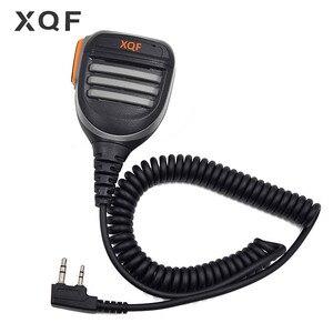 Image 1 - XQF À Distance Étanche Haut Parleur Micro PTT pour Talkie walkie Kenwood Baofeng UV 5R UV 6R UV S9 UV 5RE UV B5 Radio Bidirectionnelle
