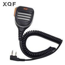 Xqf Remote Waterdichte Luidspreker Microfoon Mic Ptt Voor Walkie Talkie Kenwood Baofeng UV 5R UV 6R UV S9 UV 5RE Uv B5 Twee Manier radio