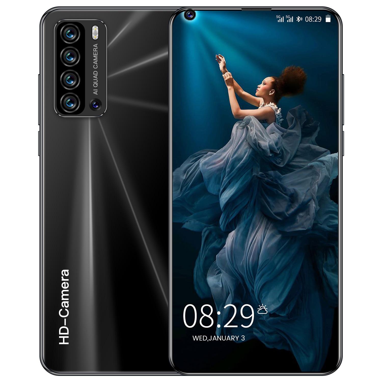Глобальный разблокированный смартфон V19 pro 6,8 дюймов полный Экран 4G/5G Смартфон Android 12 Гб + 512 Гб сотовом телефоне мобильный телефон с двумя sim-к...