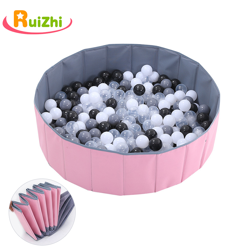 Ruizhi Children Foldable Ocean Ball Pool Pit Baby Indoor Playground Washable Anti-Skid Folding Fence Kids Birthday Gift RZ1094