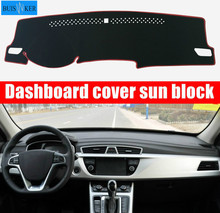 For GEELY Atlas 2016 2017 2018 Car Dashboard Cover Mat Pad Sun Shade Instrument Protect Carpet Accessories