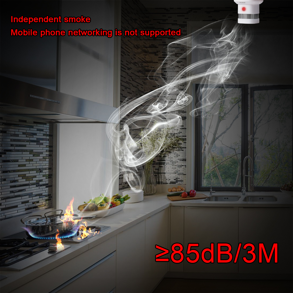 HEIMAN independent fire alarm smoke detector 3 pcs smart home system high sensitivity safety protection sensor free shipping - 5
