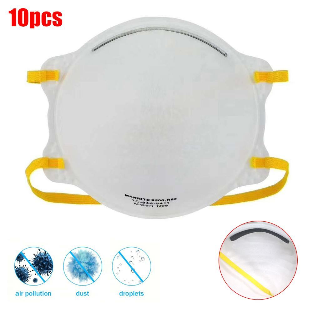 10PCS Disposable KN95 Dustproof Anti-fog And Breathable Face Masks N95 Mask 95% Filtration Features Protective Tool