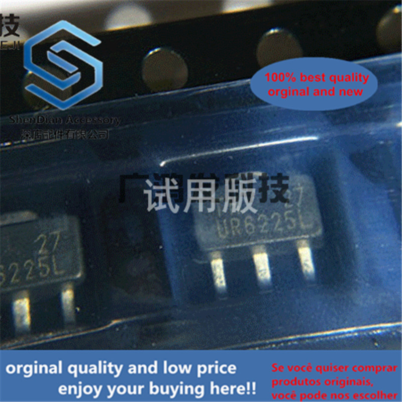 10pcs 100% Orginal New UR6225L-27-AB3-3-R 2.7V Low-Dropout Regulator IC SOT-89