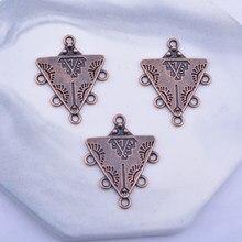 12 pièces boucles d'oreilles décoration 5 trous Triangle boucles d'oreilles connecteur alliage Antique cuivre géométrie connecteurs bijoux