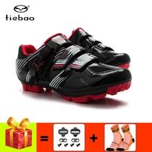 цена Tiebao cycling shoes add cleats mtb spd shoes breathable self-locking non-slip Mountain Bike sneakers riding bicycle онлайн в 2017 году